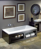 storage for smaller baths
